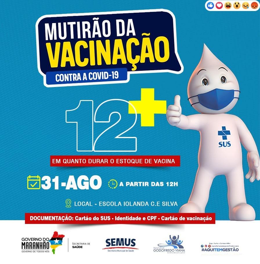 Em Godofredo Viana, adolescentes com 12 anos serão imunizados contra Covid