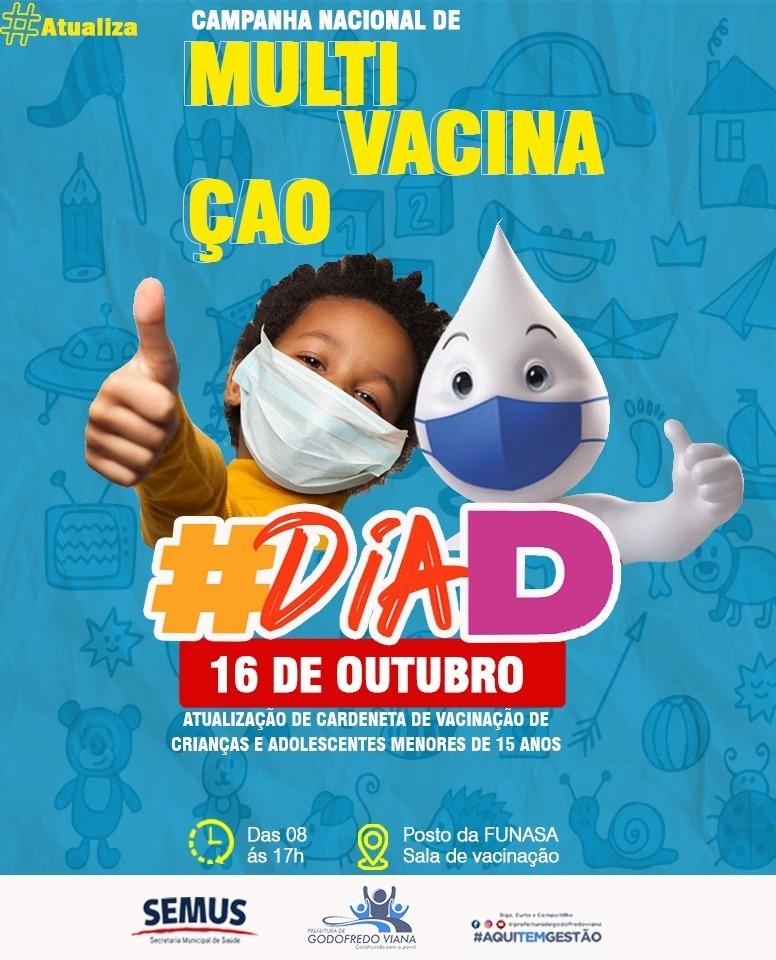 Prefeitura de Godofredo Viana realiza Multivacinação neste sábado (16)
